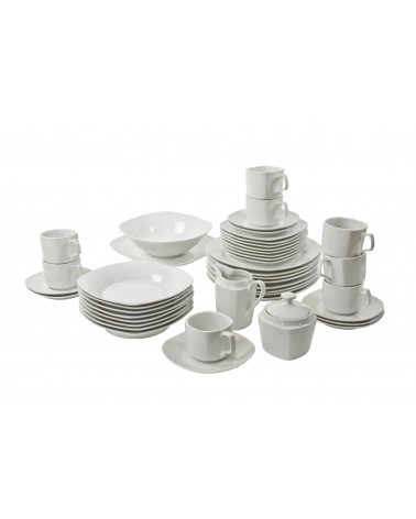 45 Piece Coupe Square Dinnerware Set