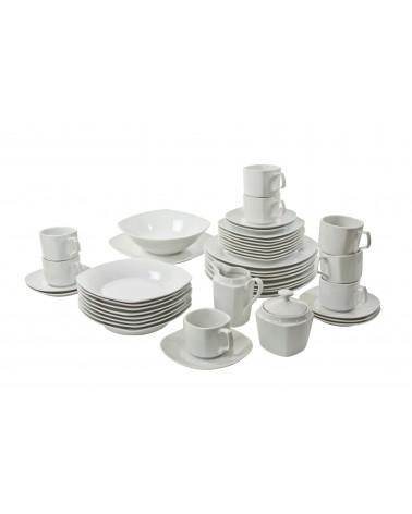 45 Piece Coupe Square Dinnerware Set