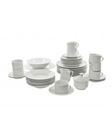 45 Piece Rim Dinnerware Set