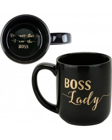BOSS LADY-BLACK METALLIC  LARGE MUG