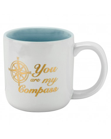 YOU ARE MY COMPASS METALLIC MEDIUM MUG