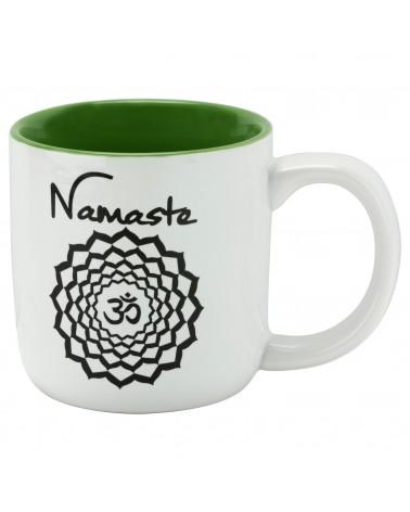 NAMASTE-GREEN MEDIUM MUG