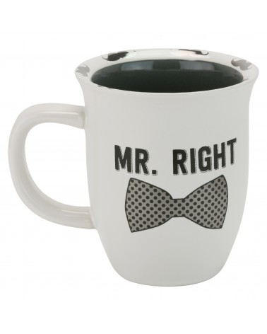 MR. RIGHT RIM MUG- SILVER METALLIC