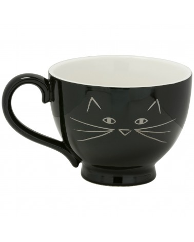 CAT FACE BLACK/SILVER