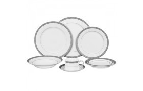 Paradise Platinum, Formal Dinnerware from Ten strawberry Street