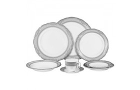 Vanessa Platinum, Formal Dinnerware from Ten strawberry Street